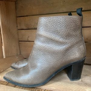 ACNE STUDIOS Pebbled Leather Ankle Boots 10